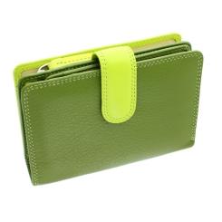 Женский кошелек сочного цвета лайма, выполненный из качественной кожи от Visconti, арт. RB51 Fiji Lime Multi