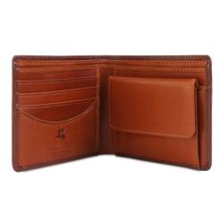 Эффектное раскладное портмоне без застежки, изготовленное из натуральной кожи от Visconti, арт. TR30 Brown Tan