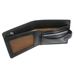 Роскошное мужское портмоне с фирменным оттиском в углу от Visconti, арт. TSC41 Black
