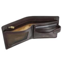 Коричневое мужское портмоне с узким клапаном-застежкой от Visconti, арт. TSC41 Brown