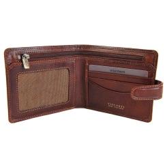 Практичное мужское портмоне с двумя отделами и разными кармашками от Visconti, арт. TSC41 Tan