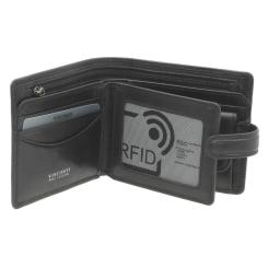 Практичное мужское портмоне из матовой натуральной кожи черного цвета от Visconti, арт. TSC42 Black
