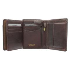 Стильное коричневое портмоне с фирменным оттиском от Visconti, арт. TSC44 Brown