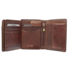 Светло-коричневое мужское портмоне из мягкой натуральной кожи от Visconti, арт. TSC44 Tan