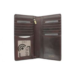 Мужское коричневое вертикальное портмоне большого формата от Visconti, арт. TSC45 Brown