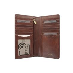 Раскладное многофункциональное кожаное портмоне без застежек от Visconti, арт. TSC45 Tan