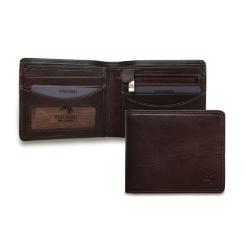 Компактное раскладное портмоне с монетницей под кармашками от Visconti, арт. TSC46 Brown