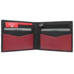 Мужское портмоне из черной и красной натуральной кожи от Visconti, арт. VSL20 Sword Black/Red