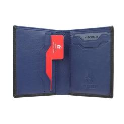 Удобное мужское портмоне компактного размера с разными кармашками от Visconti, арт. VSL26 Black Cobalt