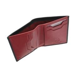 Черное мужское портмоне с красной вставкой внутри от Visconti, арт. VSL26 Black Red