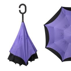 Фиолетовый женский механический зонт с оригинальной конструкцией от Zemsa, арт. 120005/1 ZM